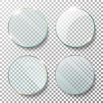 Set di cerchi rotondi trasparenti