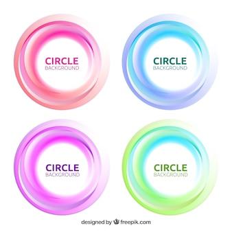 Set di cerchi sfondo