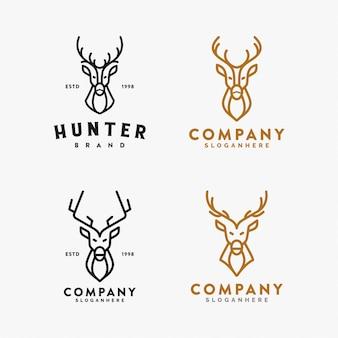 Set di cervi logo e vettoriale