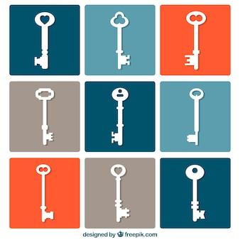 Set di chiavi bianche