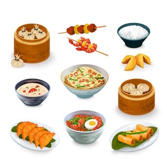 Set di cibo asiatico