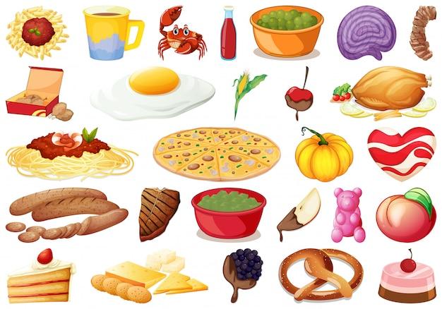 Set di cibo delizioso