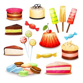 Set di cibo dolce