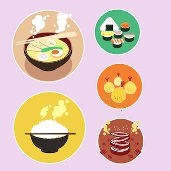 Set di cibo giapponese
