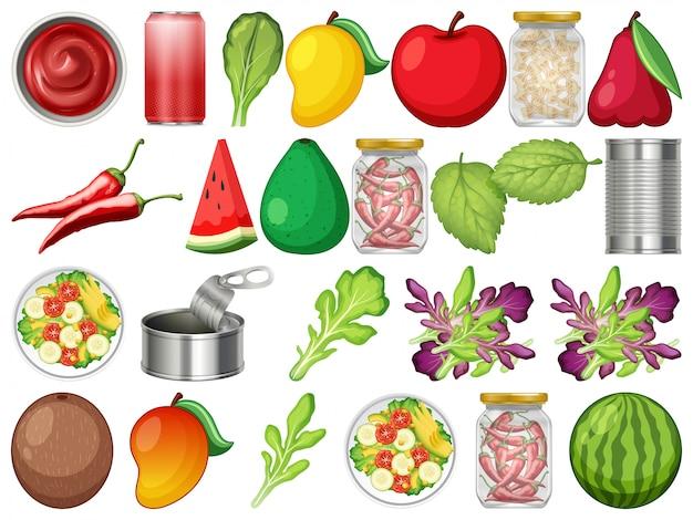 Set di cibo sano