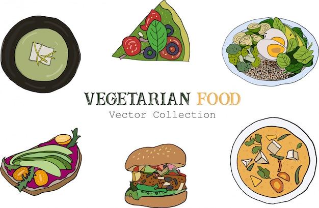 Set di cibo vegetariano