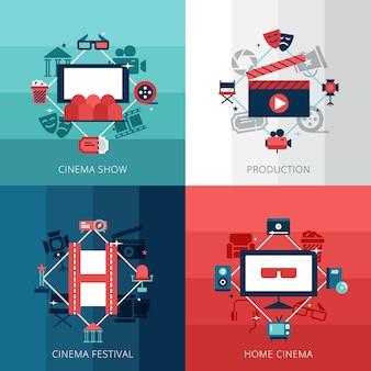 Set di cinena show cinema festival e tecnologia home video