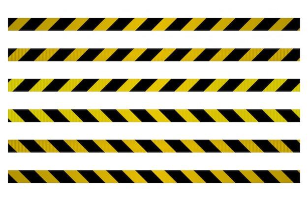 Set di cinghie per barriere metalliche da controllare.