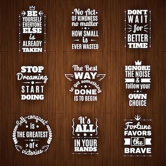 Set di citazioni di saggezza e motivazione quotidiana
