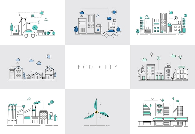 Set di città eco