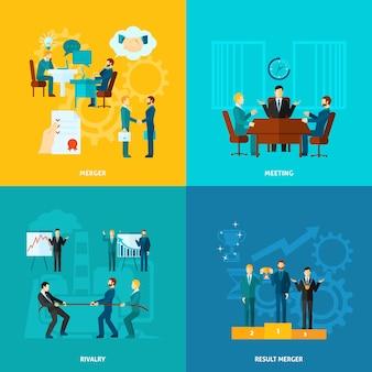 Set di collaborazione piatta