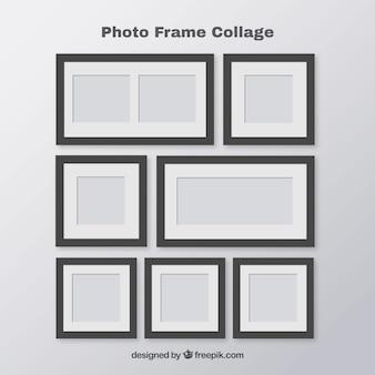 Set di collage di cornici fotografiche