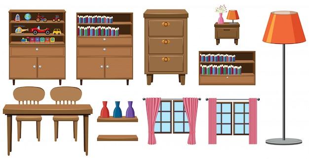 Set di collezione di mobili per la casa