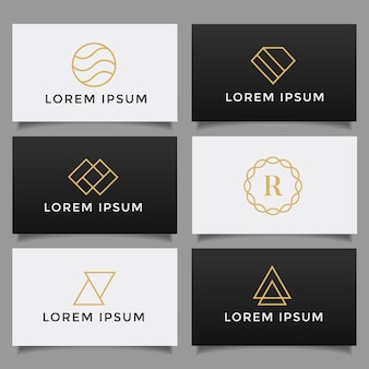 Set di collezione logo minimalista semplice creativo.