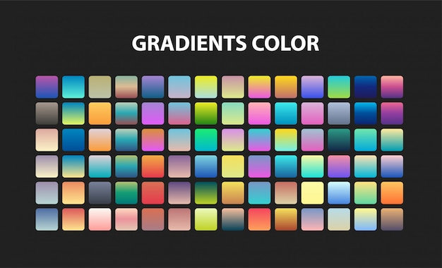 Set di colori sfumati