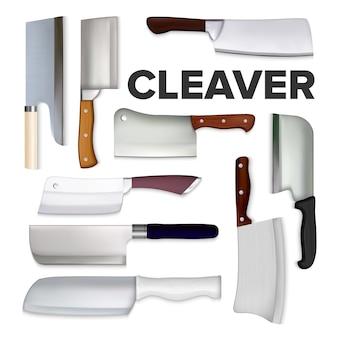 Set di coltelli da carne grandi mannaia cleaver