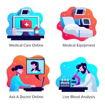 Set di composizione di medicina