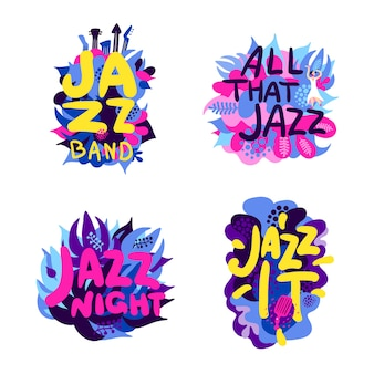 Set di composizione di tema jazz