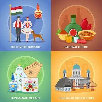 Set di composizioni culturali ungheresi
