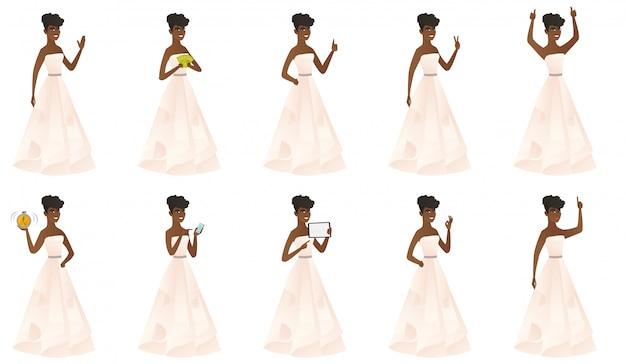 Set di con carattere sposa.