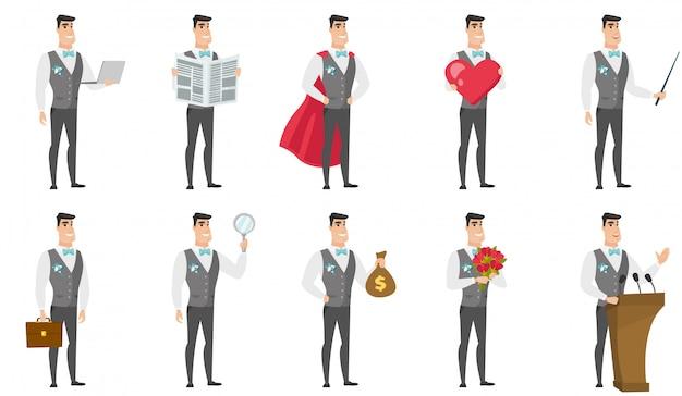 Set di con carattere sposo