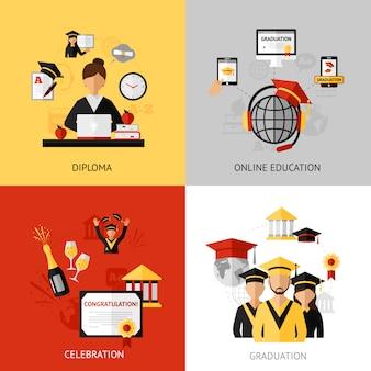 Set di concetti di design di laurea