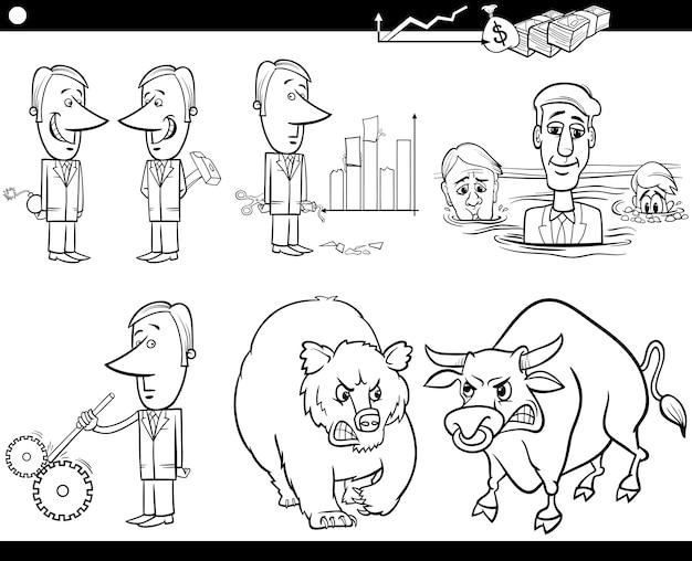 Set di concetti e idee di business cartoon