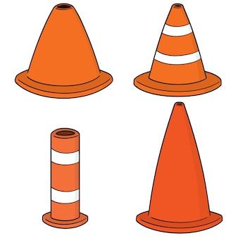 Set di cono di traffico