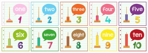 Set di contare fino a 10 poster