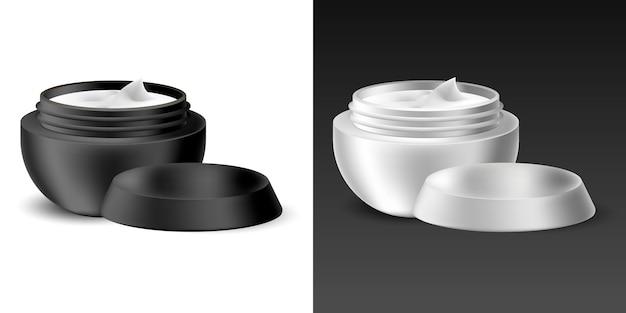 Set di contenitore realistico con crema