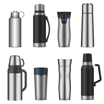 Set di contenitori per bevande in acciaio inossidabile