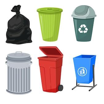 Set di contenitori per rifiuti
