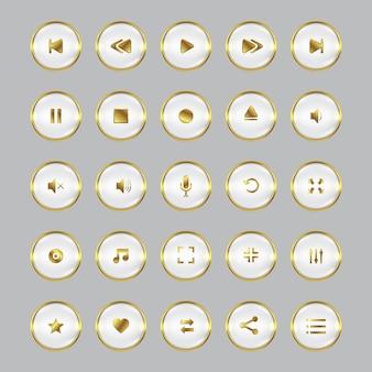 Set di controllo audio video dorato