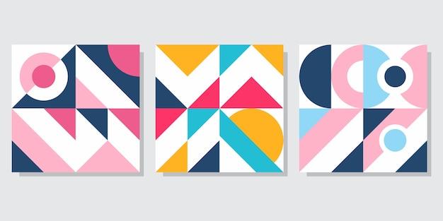 Set di copertina astratta geometrica