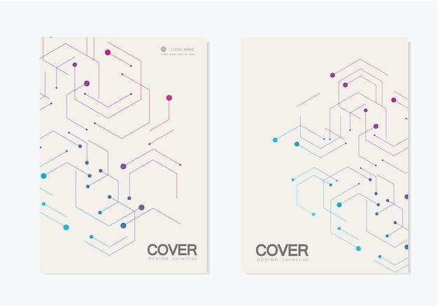 Set di copertina geometrica astratta