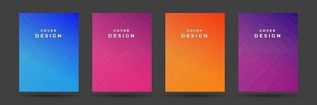 Set di copertine astratte moderne. modello gradiente copertina poster colorato.