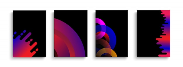 Set di copertine astratte moderne.