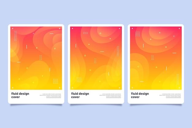 Set di copertine colorate astratte
