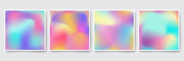 Set di copertine colorate olografiche luminose