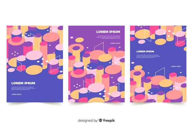 Set di copertine con design cilindrico