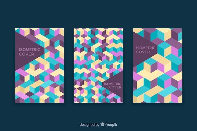 Set di copertine con disegni geometrici