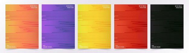 Set di copertine con motivo geometrico astratto con cubetti