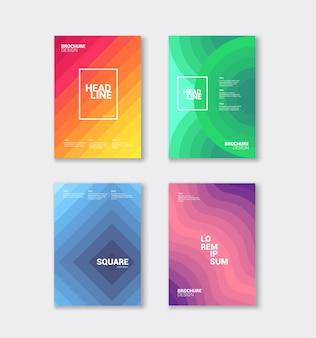 Set di copertine di colore astratto.