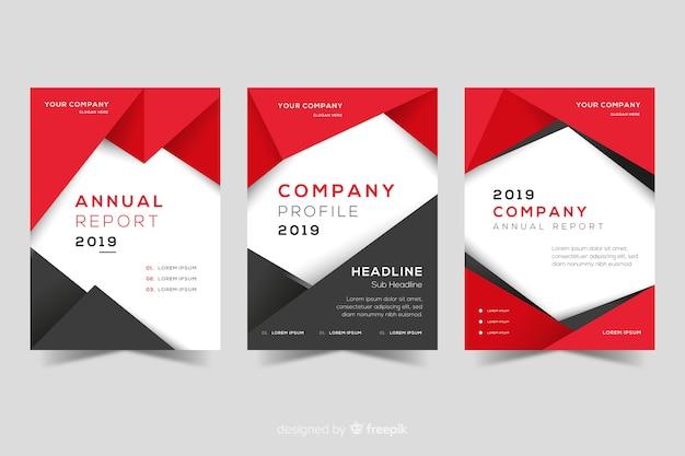 Set di copertine di design geometrico