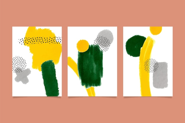 Set di copertine di forme astratte dell'acquerello