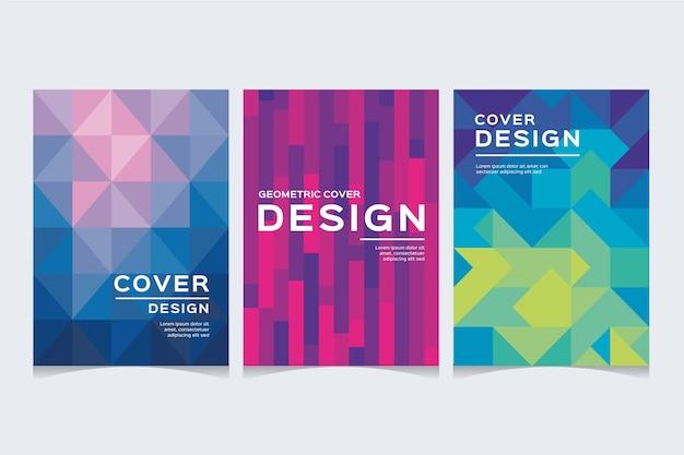 Set di copertine di forme astratte