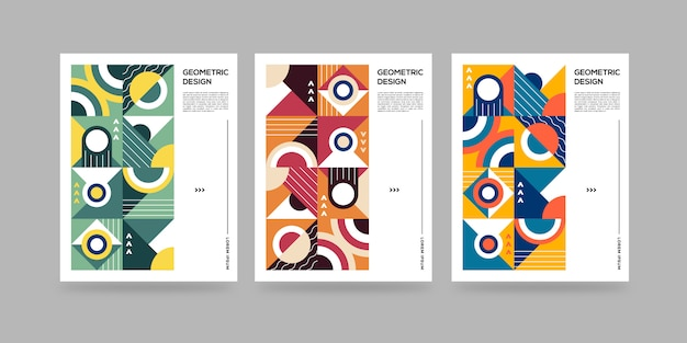 Set di copertine geometriche astratte