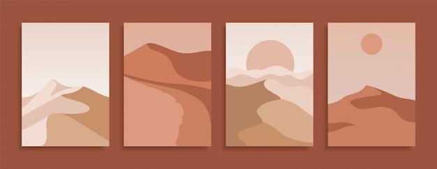 Set di copertine moderne in terracotta.