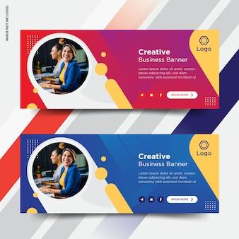 Set di copertine per facebook aziendali