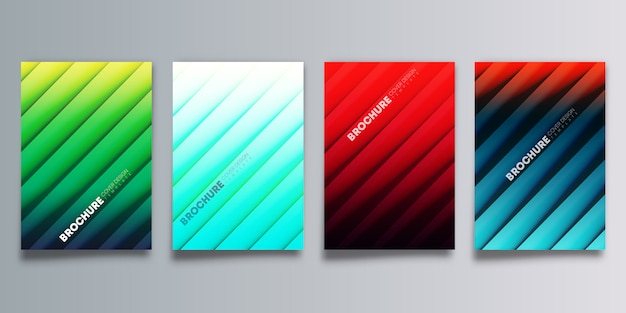 Set di copertura sfumata colorata con ombre di linea